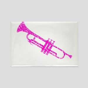 Pink Trumpet Rectangle Magnet
