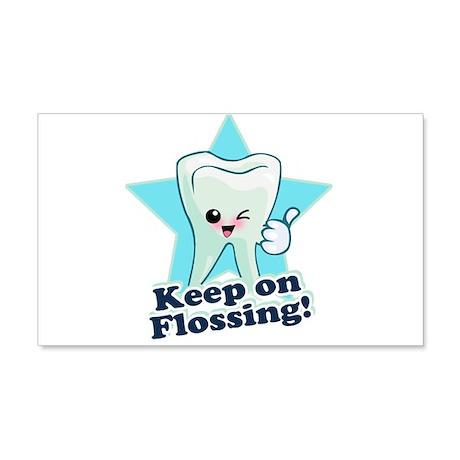 Dentist Dental Hygienist Teeth 22x14 Wall Peel