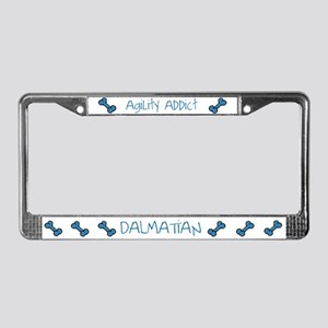 Dalmatian Agility Addict License Plate Frame
