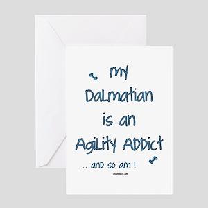 Dalmatian Agility Addict Greeting Card