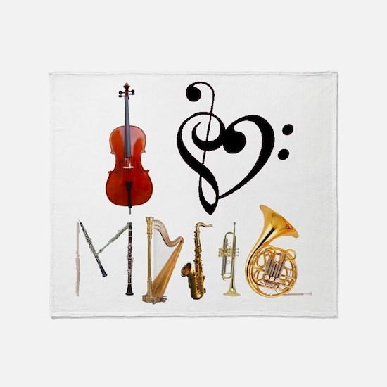 Cute Flute Throw Blanket
