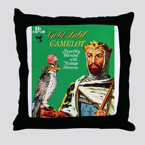 Camelot Cigar Label Throw Pillow