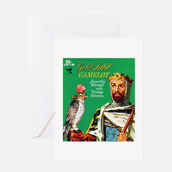 Camelot Cigar Label Greeting Card