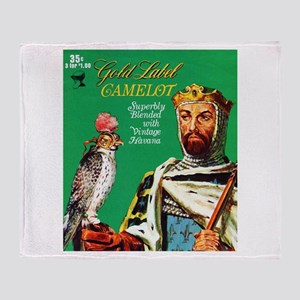 Camelot Cigar Label Throw Blanket
