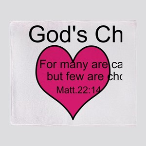 God's Chosen Throw Blanket