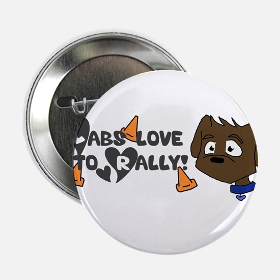"""Labs love to Rally 2.25"""" Button"""