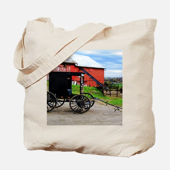 Country Scene Tote Bag