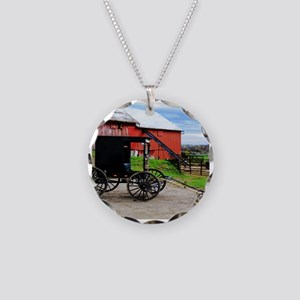 Country Scene Necklace Circle Charm