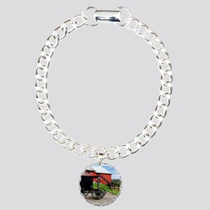 Country Scene Charm Bracelet, One Charm