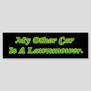 My Other Car Is A Lawnmower bumper sticker