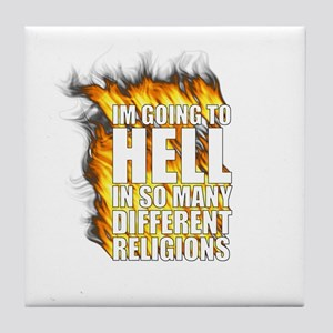 Hell in different religions Tile Coaster