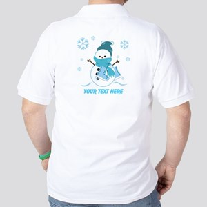 Cute Personalized Snowman Golf Shirt