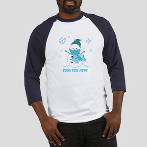 Cute Personalized Snowman Baseball Jersey