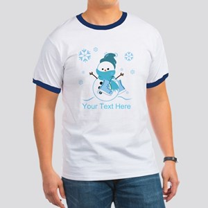 Cute Personalized Snowman Ringer T