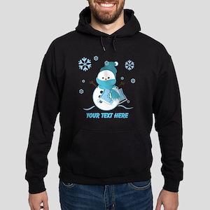 Cute Personalized Snowman Hoodie (dark)