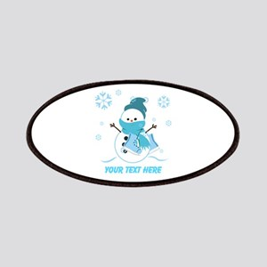 Cute Personalized Snowman Patches