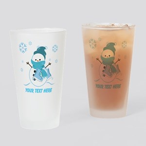 Cute Personalized Snowman Drinking Glass