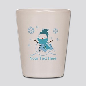 Cute Personalized Snowman Shot Glass