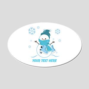 Cute Personalized Snowman 22x14 Oval Wall Peel