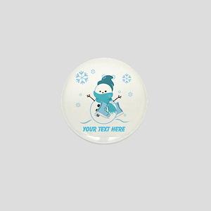 Cute Personalized Snowman Mini Button