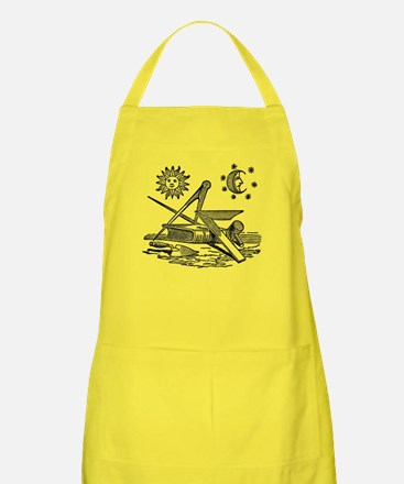 Masonic Working Tools Woodcut Apron