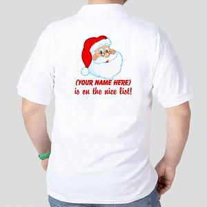 Personalized Nice List Golf Shirt