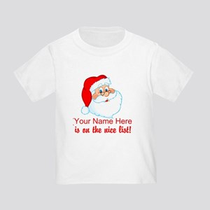 Personalized Nice List Toddler T-Shirt