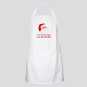 Personalized Nice List Apron