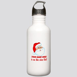 Personalized Nice List Stainless Water Bottle 1.0L