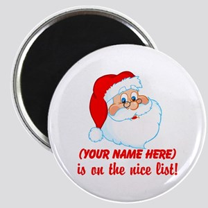 Personalized Nice List Magnet