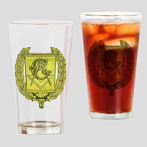 Masonic Gold Emblem Drinking Glass