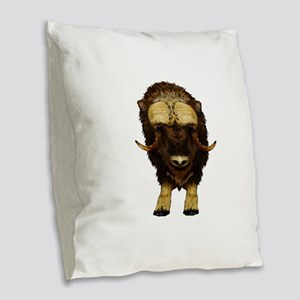 THE STARE DOWN Burlap Throw Pillow