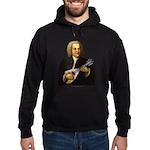 J.S. Bach on Mandolin Hoodie (dark)