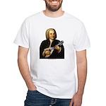 J.S. Bach on Mandolin White T-Shirt
