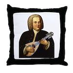 J.S. Bach on Mandolin Throw Pillow