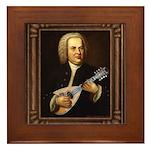 J.S. Bach on Mandolin Framed Tile
