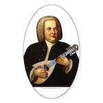 J.S. Bach on Mandolin Sticker (Oval)