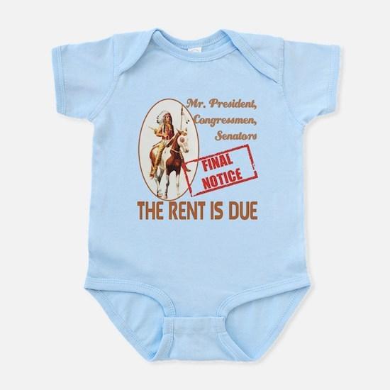 Rent is due Infant Bodysuit