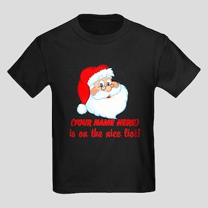 You're On The Nice List Kids Dark T-Shirt