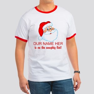 Personalized Naughty List Ringer T
