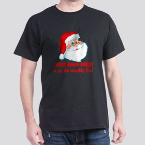 Personalized Naughty List Dark T-Shirt