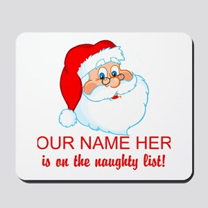 Personalized Naughty List Mousepad