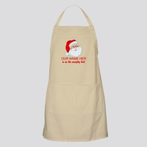 Personalized Naughty List Apron