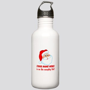 Personalized Naughty List Stainless Water Bottle 1