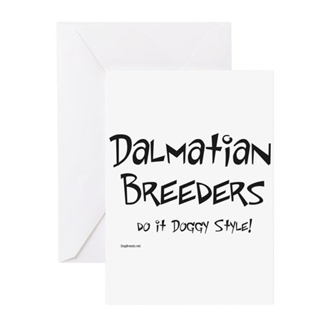 Dalmatian Doggy Style Greeting Cards (Pk of 20)