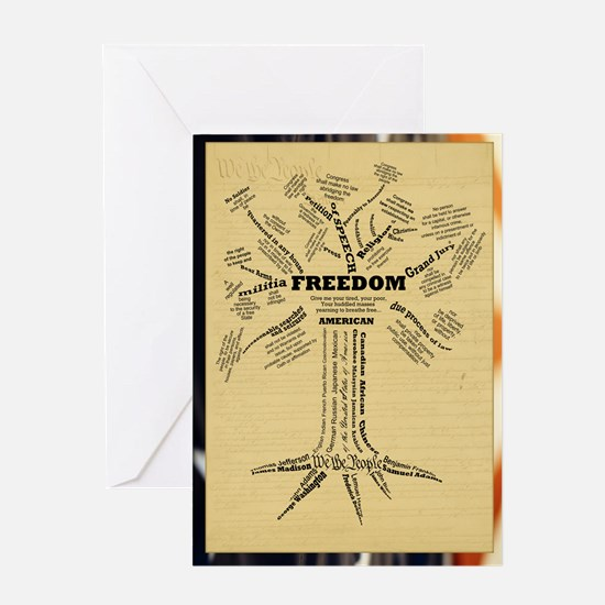 Freedom Tree Poster Greeting Card