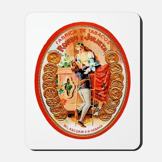 Romeo & Juliet Cigar Label Mousepad