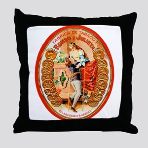 Romeo & Juliet Cigar Label Throw Pillow