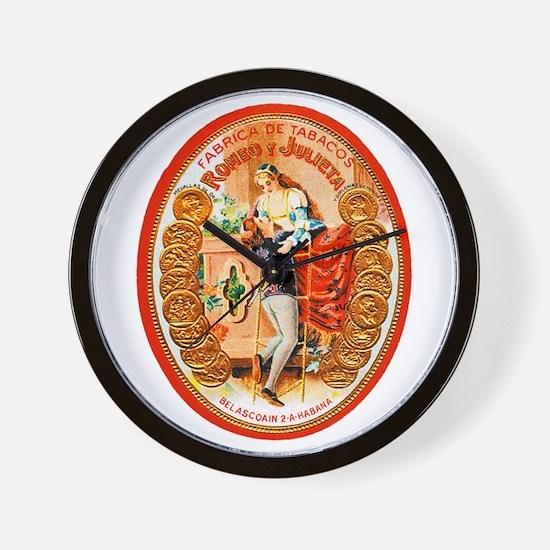 Romeo & Juliet Cigar Label Wall Clock