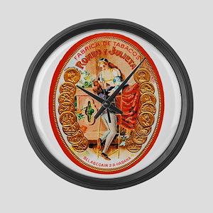 Romeo & Juliet Cigar Label Large Wall Clock